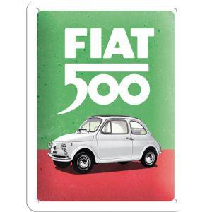 Plaque métal Fiat 500 15 x 20