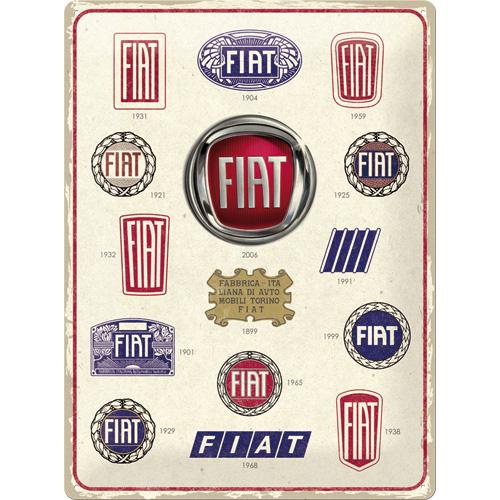 Plaque métal Logos Fiat 30x40