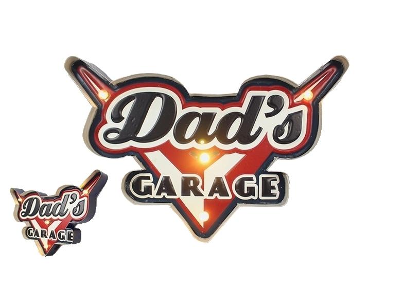 Enseigne lumineuse Dads garage