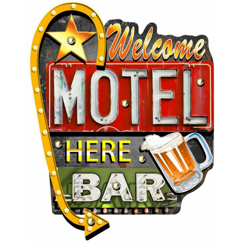 Enseigne lumineuse Motel bar