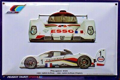 Plaque métal Peugeot 905 Le Mans