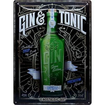 Plaque métal Gin tonic Green Edition 30 x 40