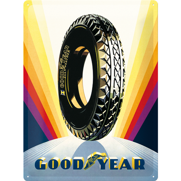 Plaque métal Goodyear Rainbow 30 x 40