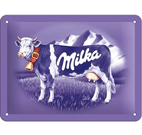Plaque métal Milka 20 x 15