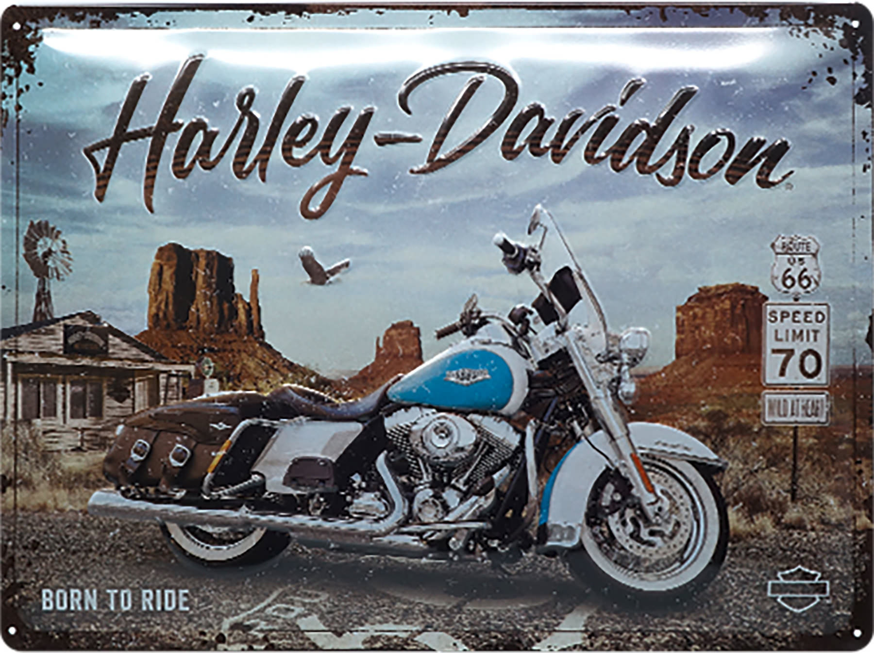 Plaque Harley Born to ride