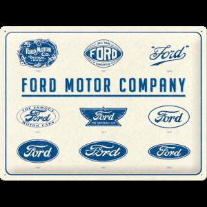 Plaque publicitaire Ford logos