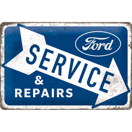 Plaque métal Ford service 30x20