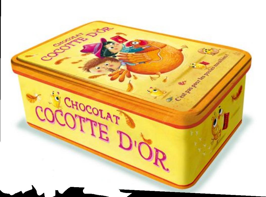 Boite à sucre chocolat cocotte d\'or