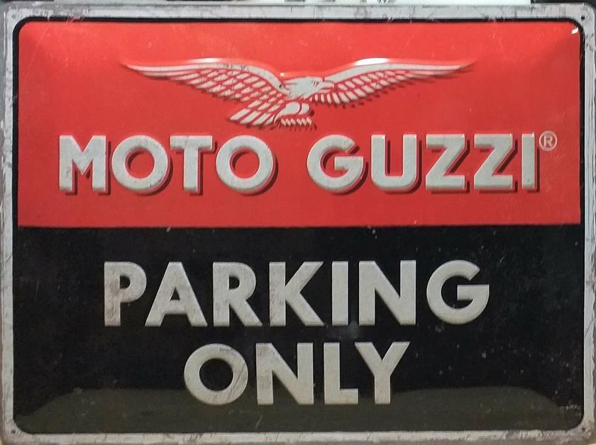 Plaque Moto Guzzi 20 x 15