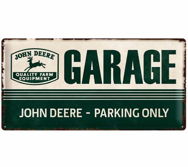 Plaque métal John Deere 50 x 25