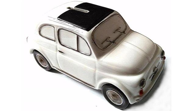Tirelire porcelaine Fiat 500