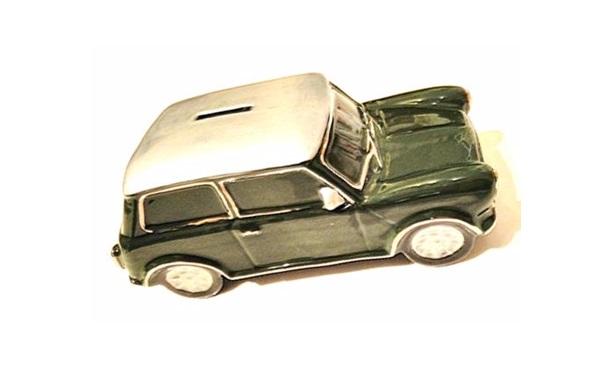Tirelire porcelaine Austin Mini cooper