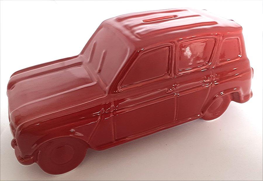 Tirelire porcelaine Renault 4L