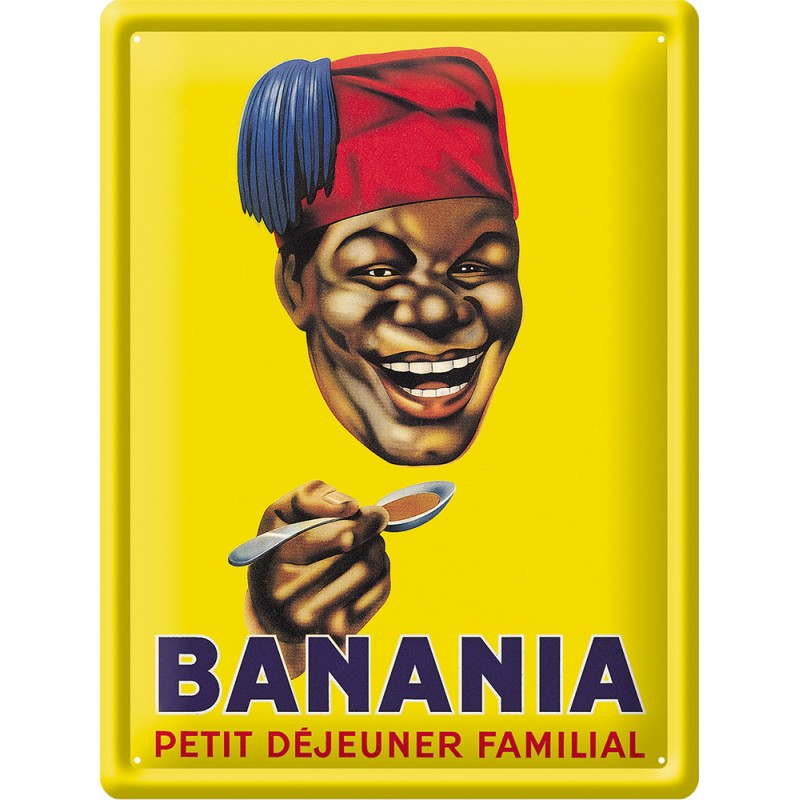 Plaque métal Banania 30x40