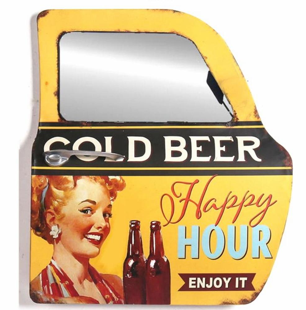 portière miroir 3D Happy hour