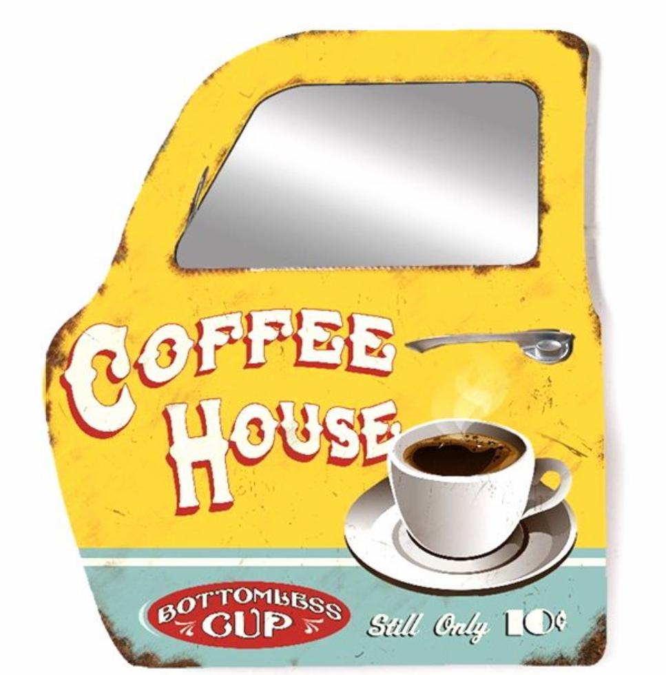 Portière miroir 3D coffee house