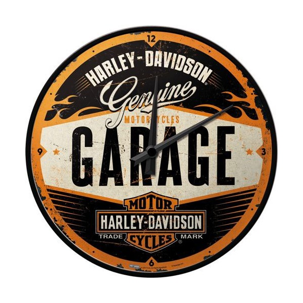 Horloge Harley Garage