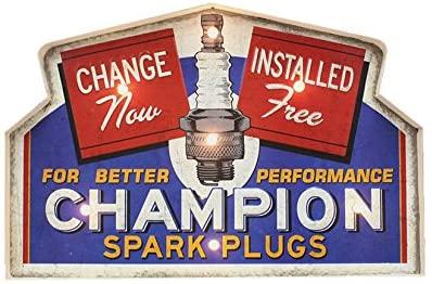 Enseigne lumineuse bougies Champion