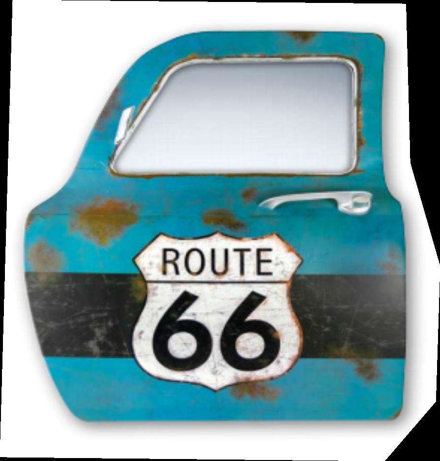 Grande portière miroir 3D route 66