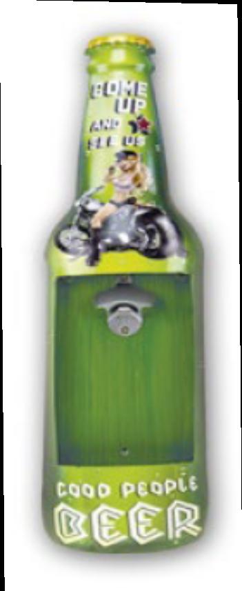 Décapsuleur mural moto custom 60 cm