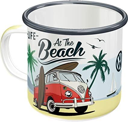 Mug émaillé Vw combi beach