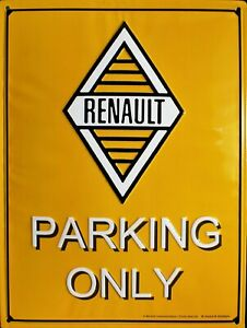 Plaque Renault Parking 20x30