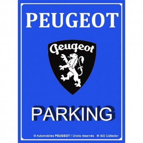 Plaque Peugeot parking 20x30