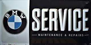 Plaque Bmw service 50x25