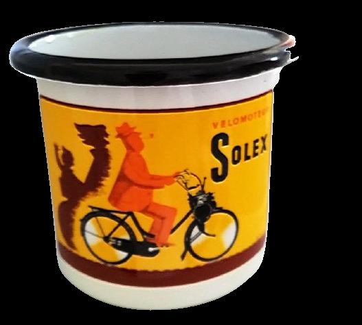 Lot de 6 mugs émaillés Solex