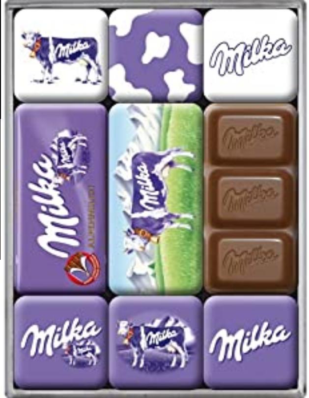 Lot de 9 magnets Milka