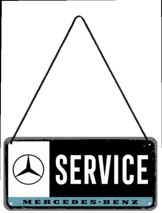 Plaque à suspendre Mercedes