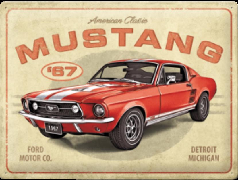 Plaque métal Ford Mustang