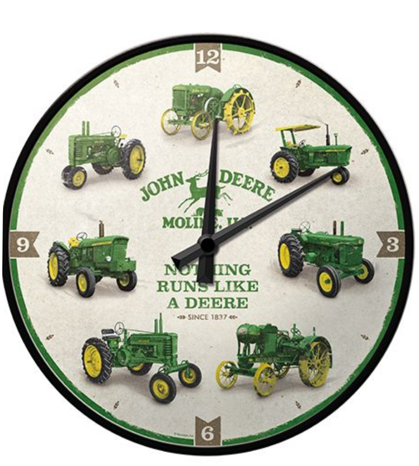 Horloge John Deere history Molines
