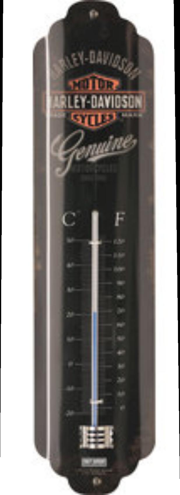 Thermomètre Harley Davidson noir