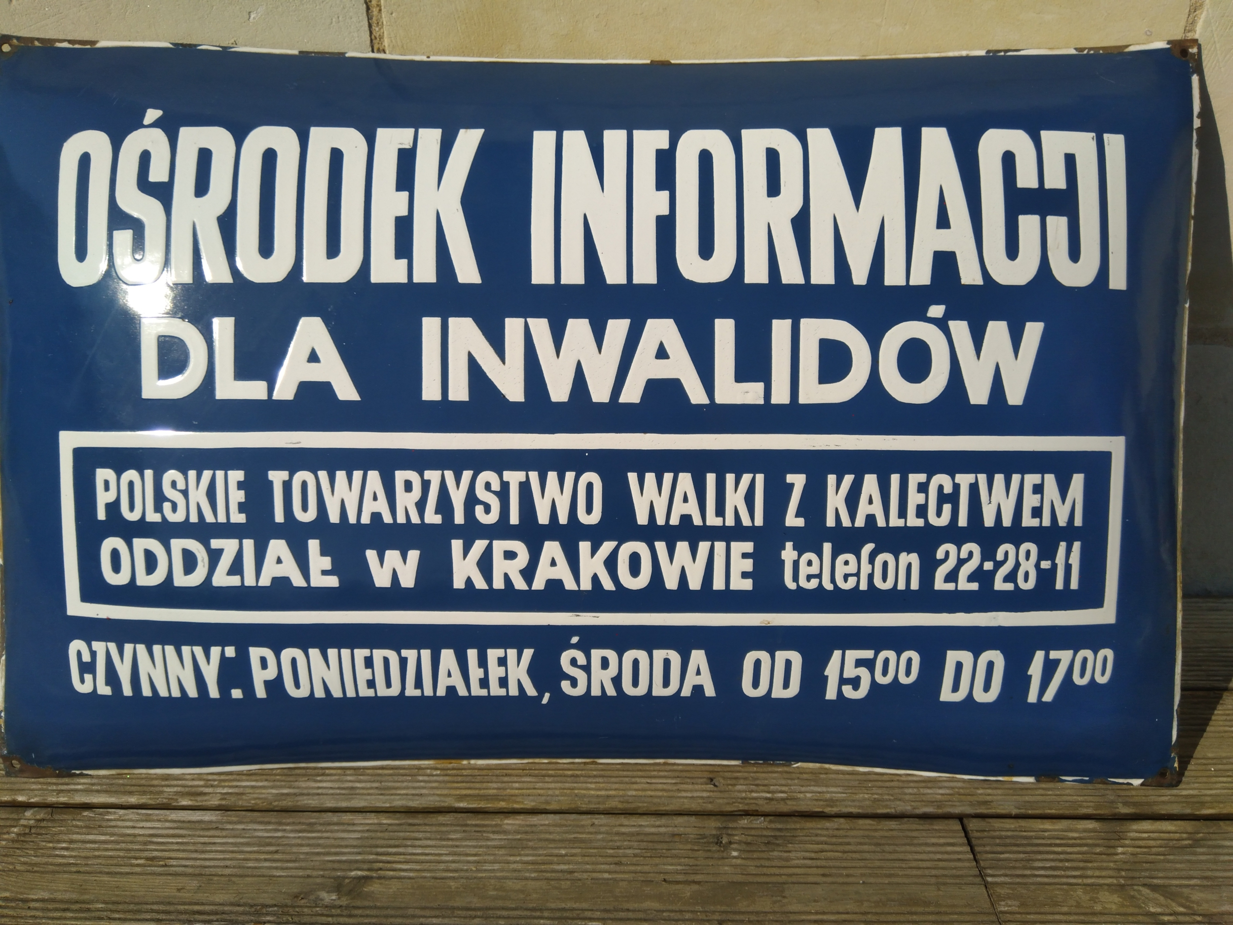 Authentique plaque émaillée polonaise