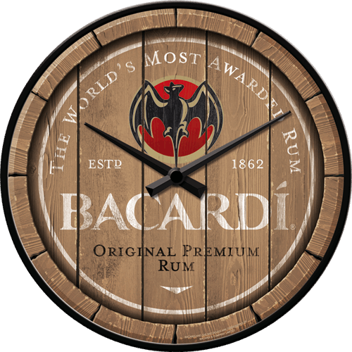horloge rhum Bacardi rétro