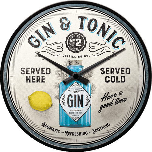 Horloge Gin tonic