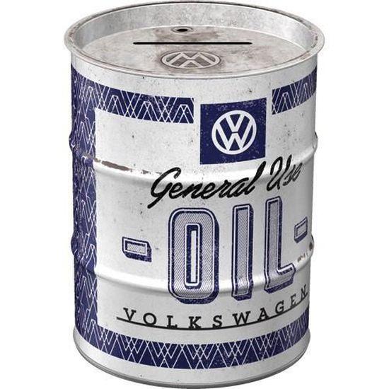 Tirelire baril Volkswagen oil