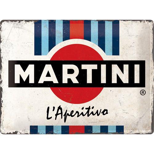 Plaque métal Martini 40 x 30