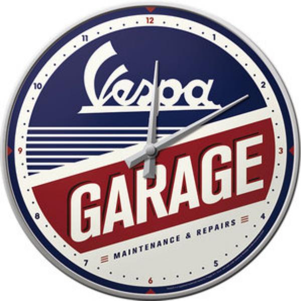Horloge Vespa garage