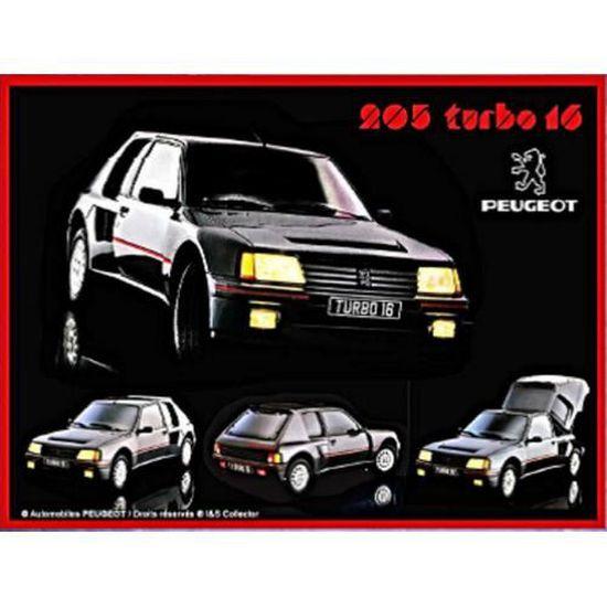 Plaque métal Peugeot 205 Turbo 16 40 x 30