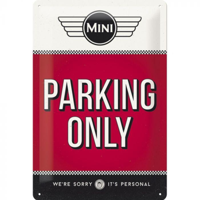 Plaque Mini parking only