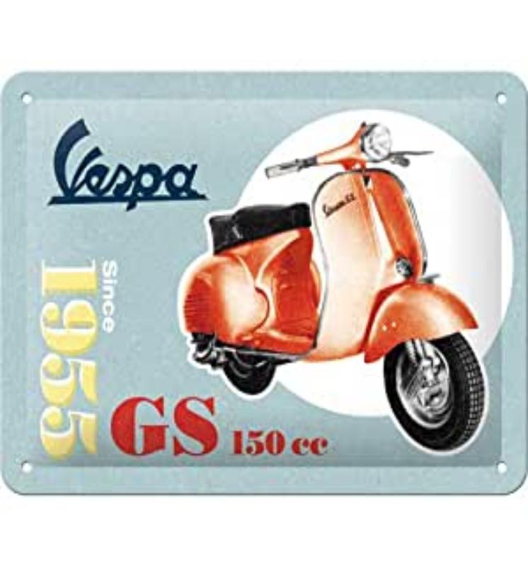plaque vintage vespa 15x20