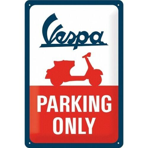 Plaque vespa parking only 20x30