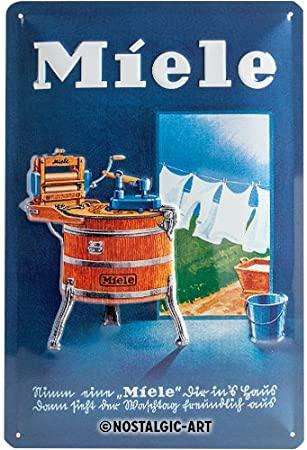 Plaque publicitaire Miele vintage 20 x 30