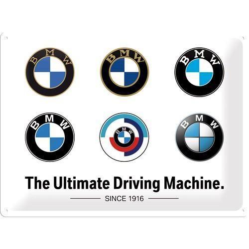 Plaque métal BMW logos 40x30