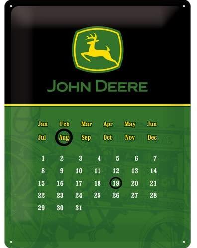 Calendrier perpétuel John Deere 40x30