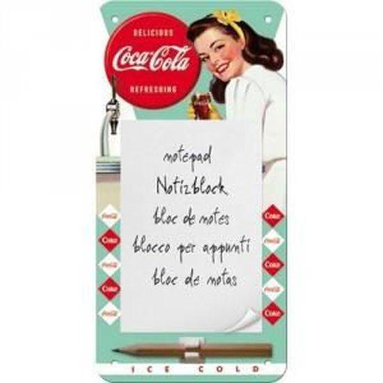 Bloc-notes magnétique Coca-cola
