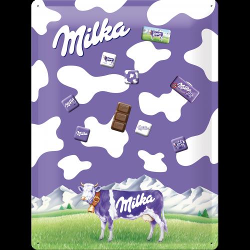Plaque Milka avec 9 magnets