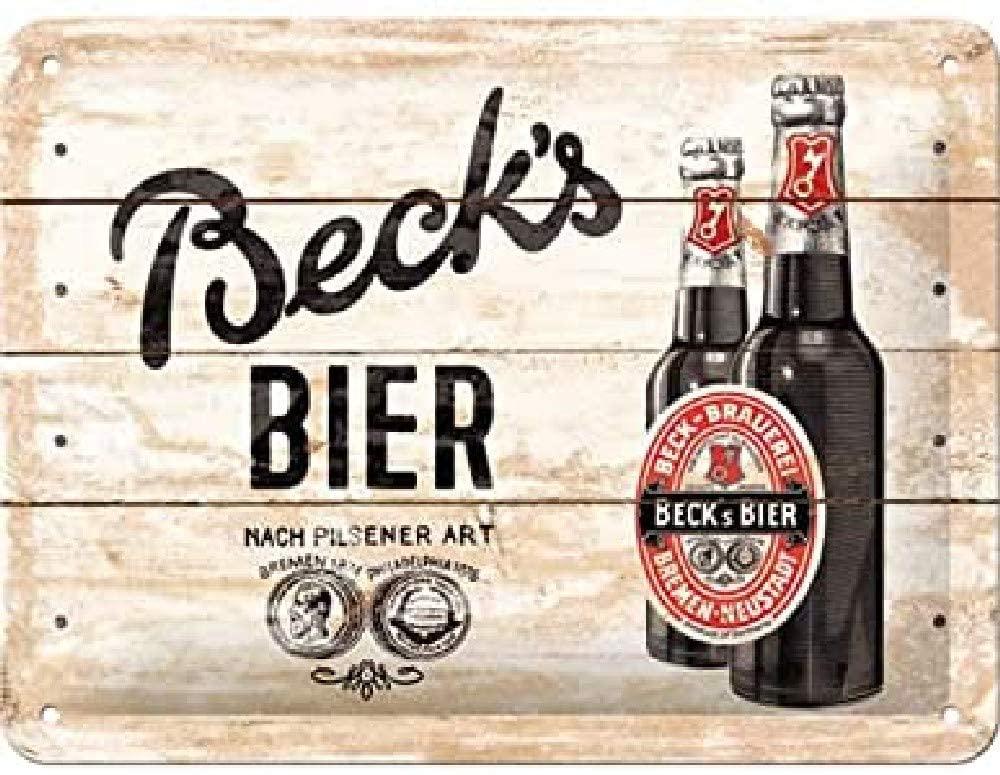 plaque vintage bière beck's